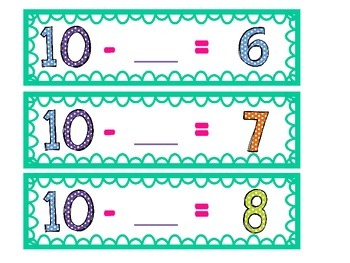Missing Number Addition Subtraction with 10