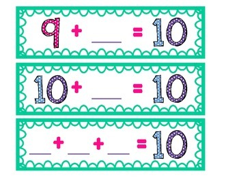 Missing Number Addition Subtraction with 10 & 20