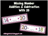 Missing Number Addition Subtraction with 20