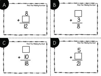 Missing Number Addition Task Cards {Digital}