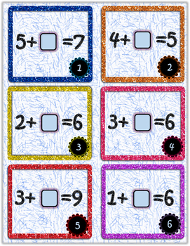 Missing Number Addition Task Cards