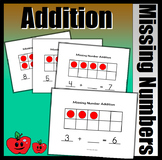 Missing Number Addition With Ten Frames (23 Missing Addend Mats)