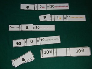 Missing Number Addition sentence to 10 Math Center- Hard Good