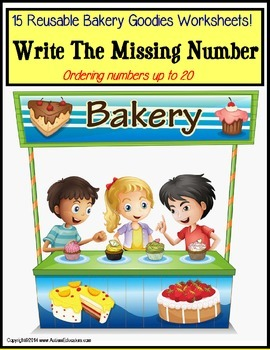 Missing Number: Bakery Goodies Write and Wipe