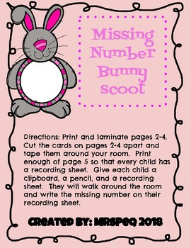 Missing Number Bunny Scoot