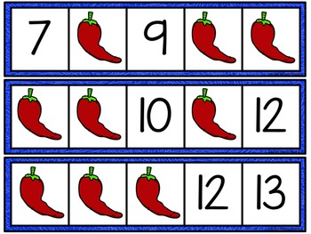 Missing Number Cards: Cinco de Mayo (Numbers 1-20)
