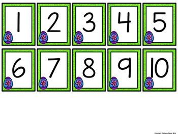 Missing Number Cards: Easter (Numbers 1-20)