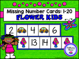 Missing Number Cards: Flower Kids (Numbers 1-20)