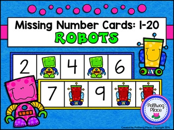 Missing Number Cards: Robots (Numbers 1-20)