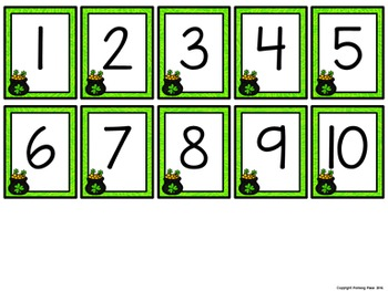 Missing Number Cards: St. Patrick's Day (Numbers 1-20)