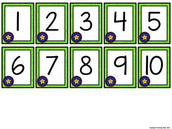 Missing Number Cards: Superheroes (Numbers 1-20)