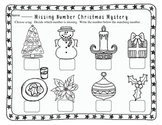 Christmas Missing Number Mystery Freebie