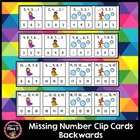 Missing Number Clip Cards