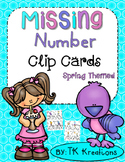 Missing Number Clip Cards intervention Freebie