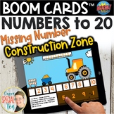 Construction Zone Missing Numbers to 20 Digital Task Cards