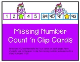 Missing Number Count 'n Clip Cards 1-100