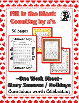 Missing Number - Counting by 2's ~ One Work Sheet ~ Many S