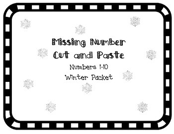 Missing Number Cut and Paste - Winter Edition