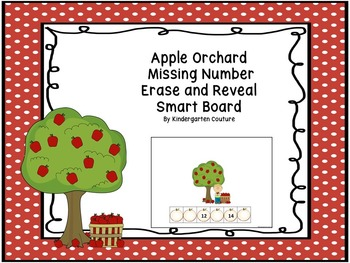 Missing Number Erase and Reveal # 1-20 Apple Orchard