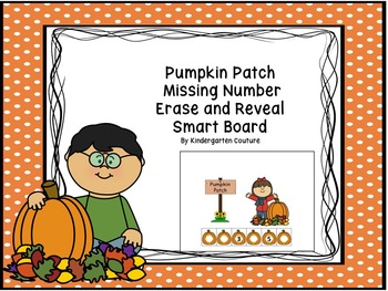 Missing Number Erase and Reveal (#1-20) Pumpkin Patch