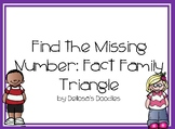 Missing Number Fact Family Triangle
