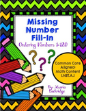 Missing Number Fill-In: Ordering Numbers 1-120 Activity