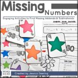 Missing Addends - Finding Addends & Subtrahends
