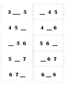 Missing Number Flashcards