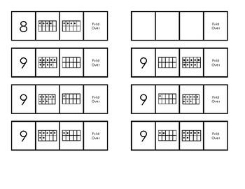 Missing Number Flip Cards Tens Frames