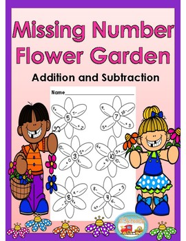 Missing Number Flower Garden for Addition and Subtraction
