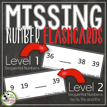 Missing Number Fluency Flash Cards By 1st Grade Pandamania