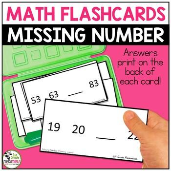 Missing Number Fluency Flash Cards