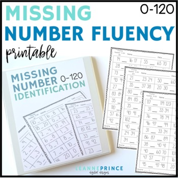 Missing Number Fluency Practice Pages