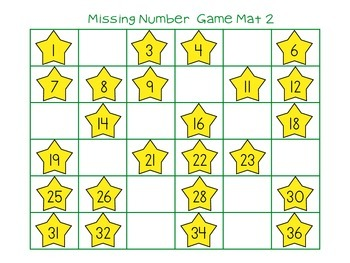 Missing Number Game- Easy Prep Math Center
