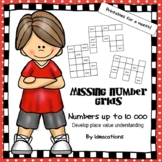 Missing Number Grids - Numbers up to 10 000