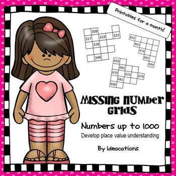 Missing Number Grids - Numbers up to 1000