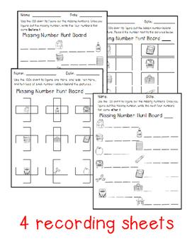 Missing Number Hunt 1.NBT.1 - Back to School Edition