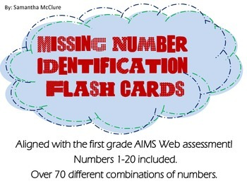 AIMSWEB: Missing Number Identification Flash Cards