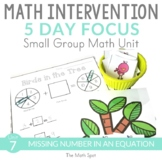 Missing Number In An Equation | 1st Grade Small Group Math