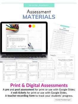 Missing Number In an Equation Print And Digital Math Unit for Distance Learning