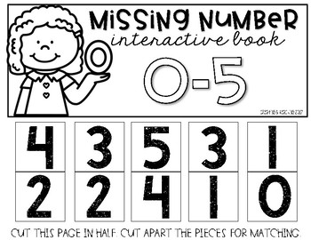 Missing Number Interactive Books {Numbers 0-20}