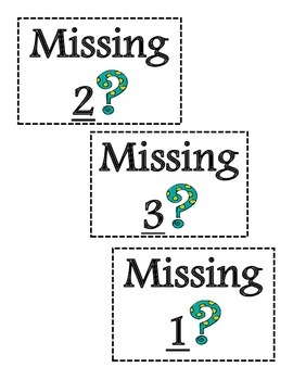 Missing Number Matching Game!