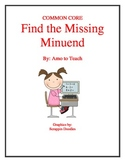 Missing Number (Minuend and Subtrahend)