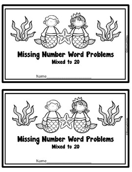 Missing Number (Mixed) Word Problems Books
