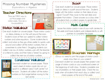19158334eab3 Missing Number Mysteries  Explorations in Algebra Level 1  Add   Subtract  to 20