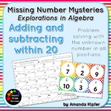 Missing Number Mysteries: Explorations in Algebra Level 1: