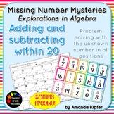 Missing Number Mysteries: Explorations in Algebra Level 1: FREEBIE