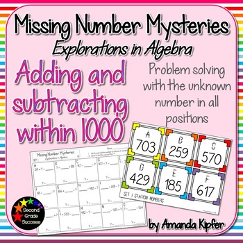 Missing Number Mysteries: Explorations in Algebra Level 3: Add&Subtract to 1000