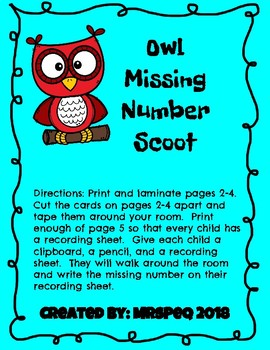 Missing Number Owl Scoot