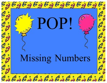 Missing Number POP! Game